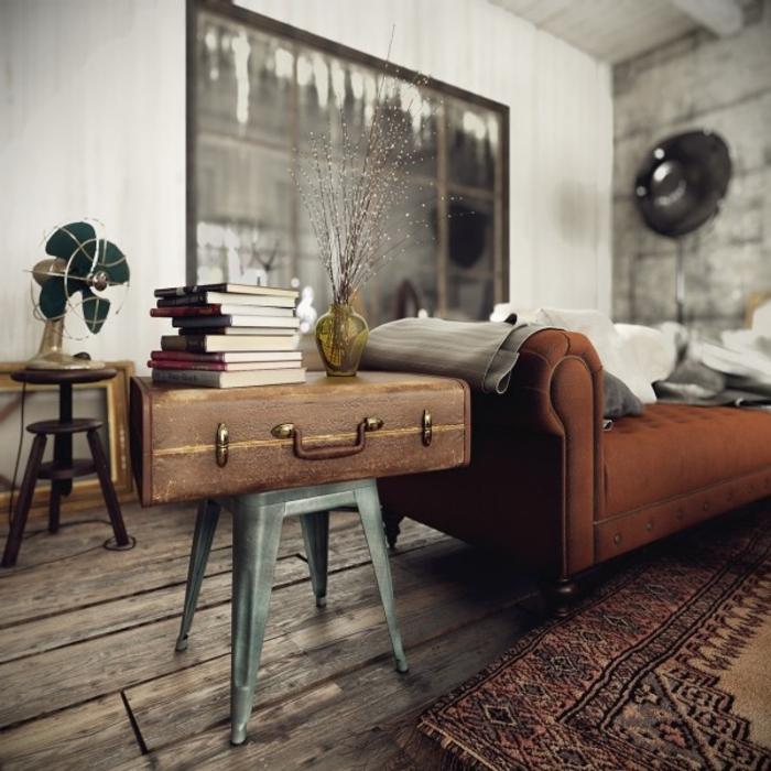 wohnen im landhausstil wohnzimmer möbel koffer beistelltisch