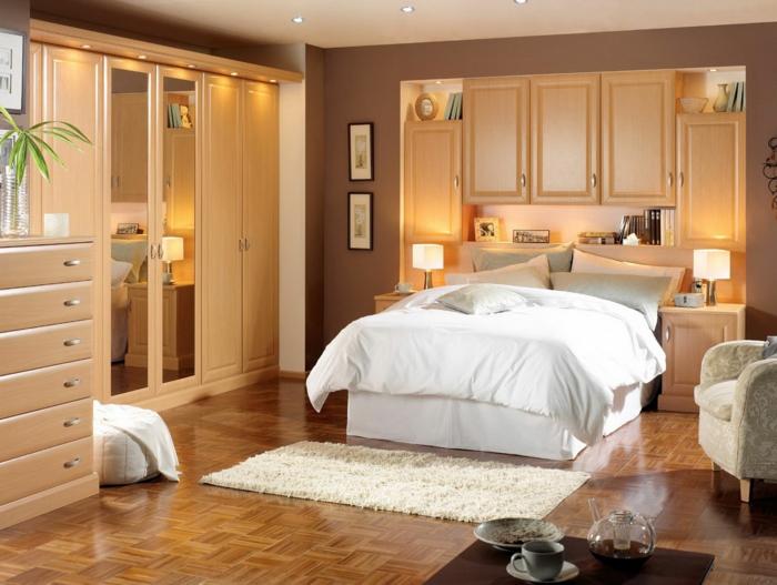 Idee wohnzimmer ideen für kleine räume : wohnideen kleines schlafzimmer kleiderschrank pflanzen einbauleuchten