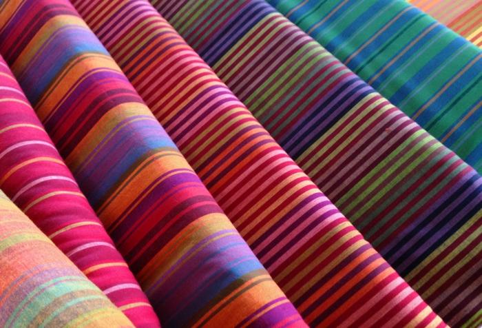 wohntextilien gewobene baumwolle streifen