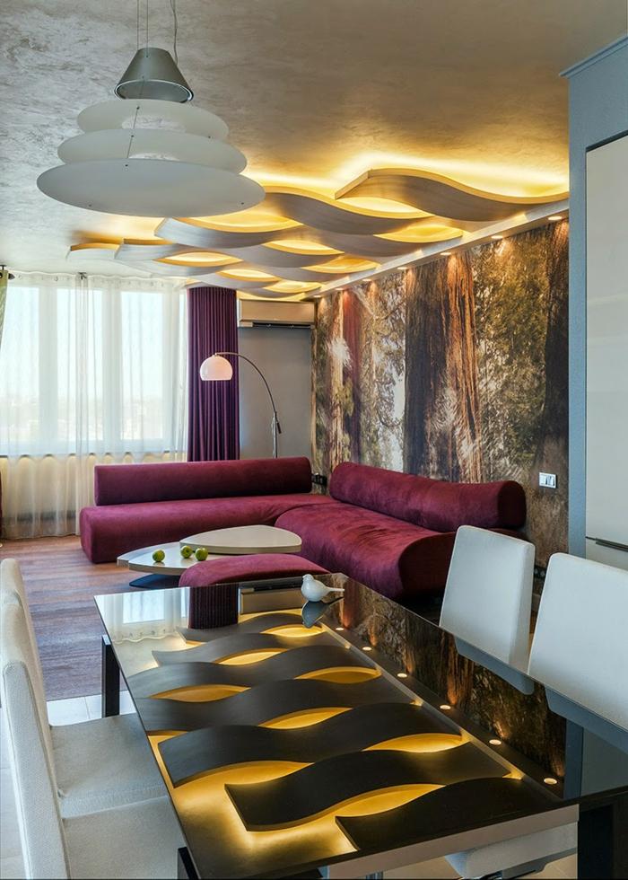 deckenbeleuchtung wohnzimmer sollten es decken einbau oder pendelleuchten sein. Black Bedroom Furniture Sets. Home Design Ideas
