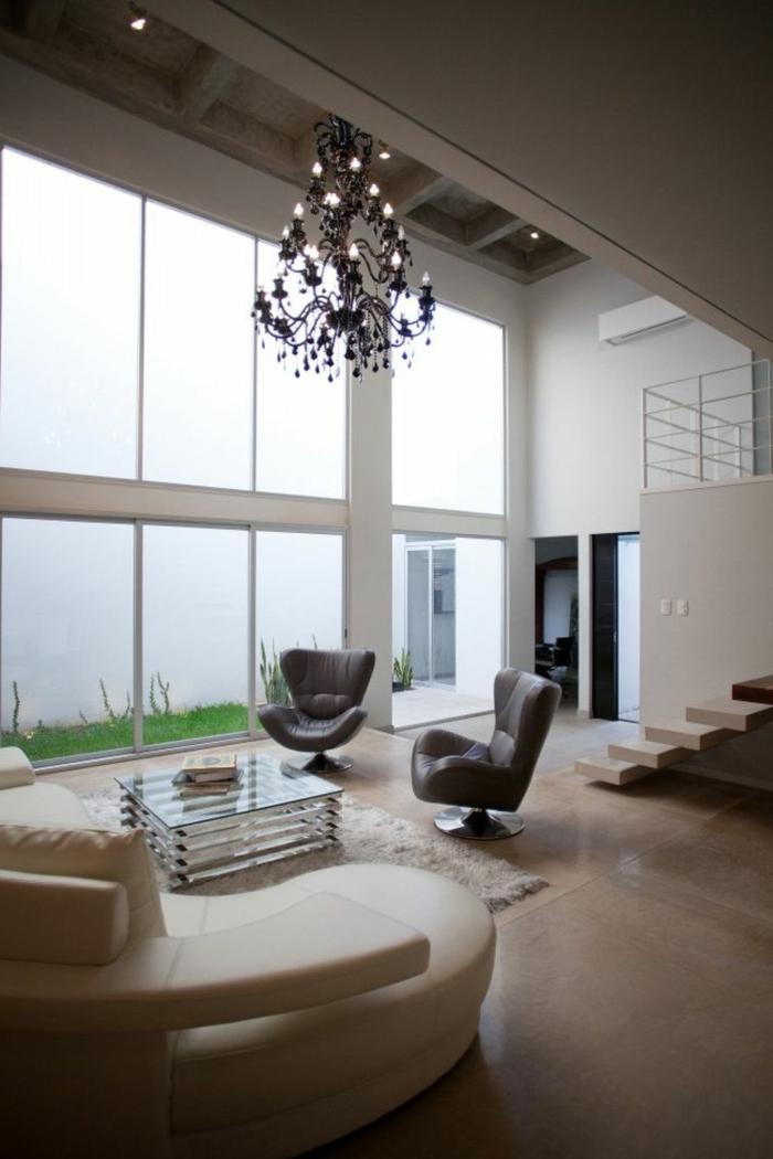 wohnzimmer beleuchten deckenbeleuchtung ausgefallener couchtisch