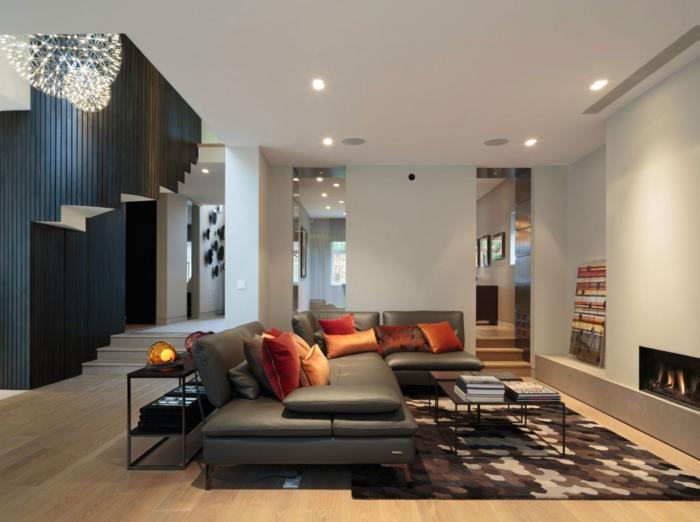 wohnzimmer beleuchtung deckenbeleuchtung teppich