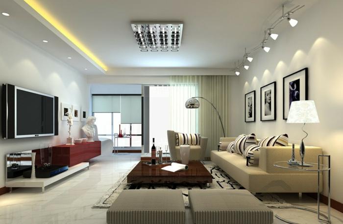 Wunderbar Deckenbeleuchtung Wohnzimmer U2013 Sollten Es Decken  , Einbau  Oder  Pendelleuchten Sein?
