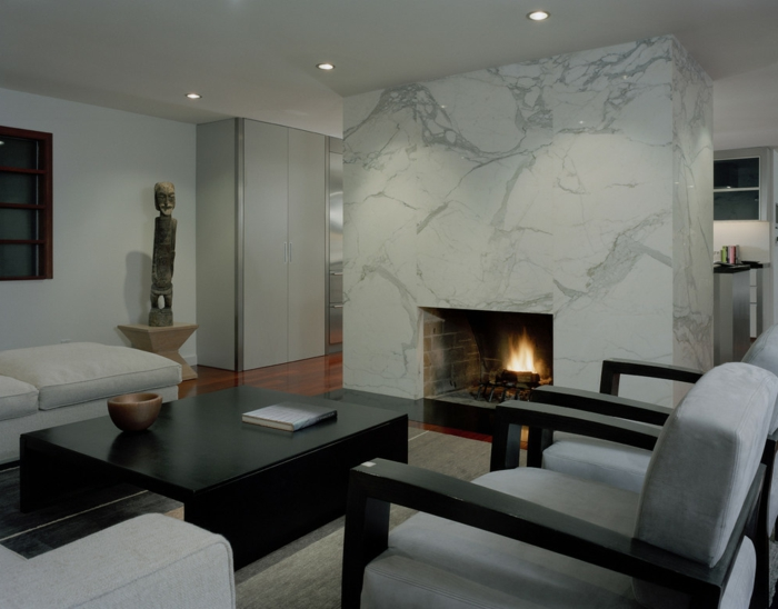 wohnzimmerbeleuchtung elegante möbel kamin