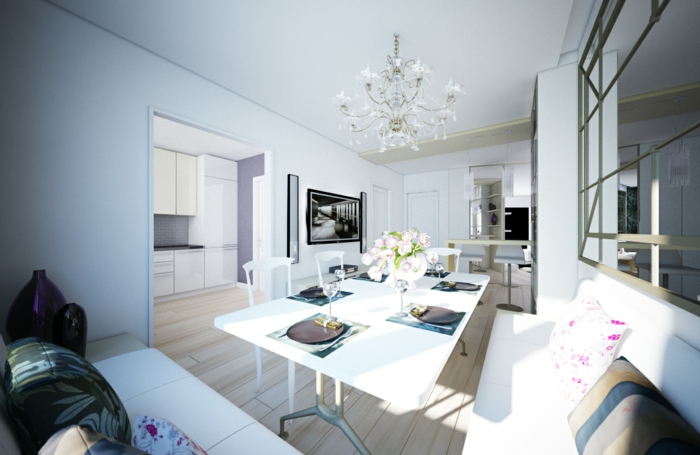 wohnzimmerbeleuchtung kronleuchter frisches ambiente