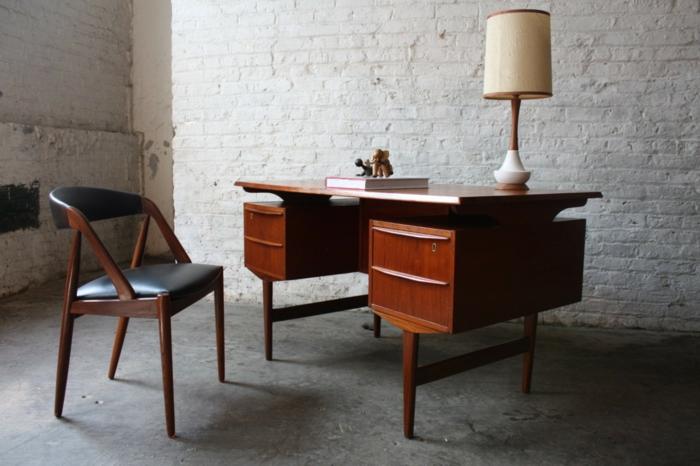 50er jahre möbel schreibtisch stuhl authentisch