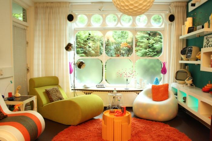 50er jahre möbel wohnzimmer ideen polster sitzmöbel