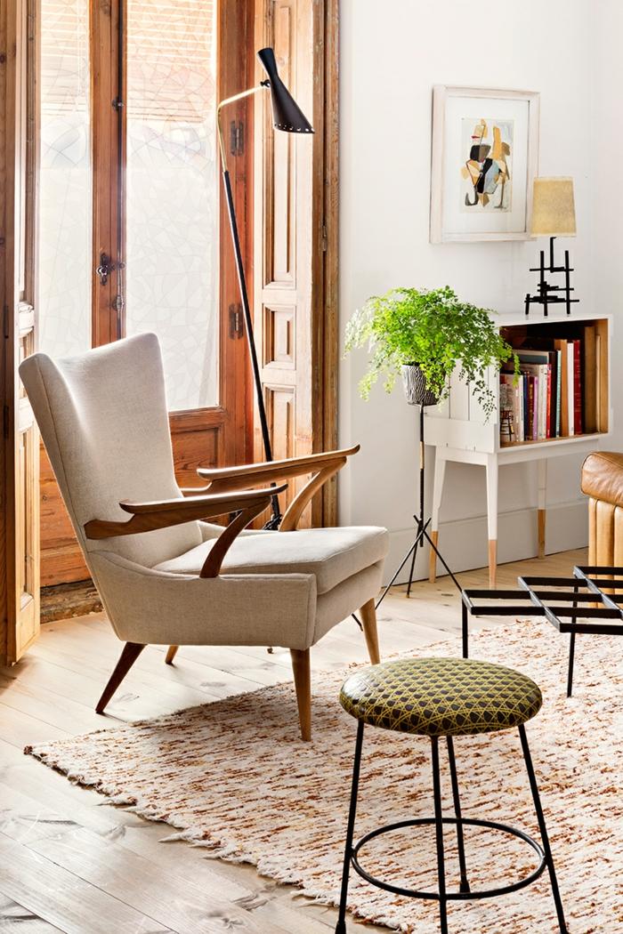 50er jahre möbel wohnzimmereinrichtung sessel runder hocker
