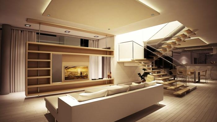 abgeh ngte decke beleuchtung ein trend in der deckenmontage. Black Bedroom Furniture Sets. Home Design Ideas