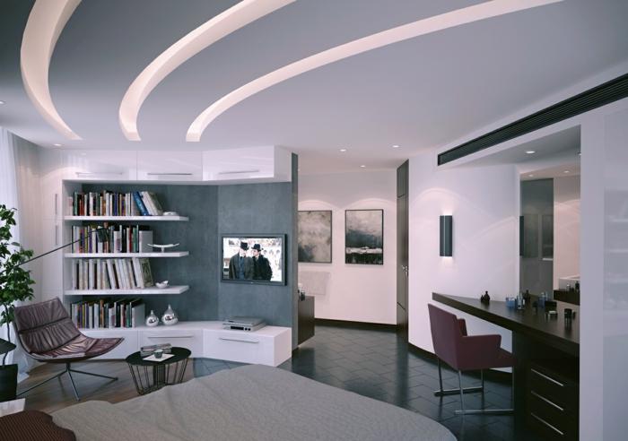 Abgehängte Decke Beleuchtung modern