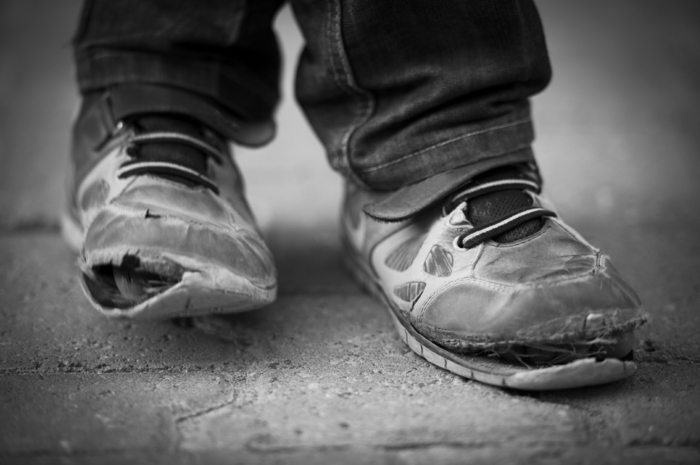 Armut Definition Schuhe