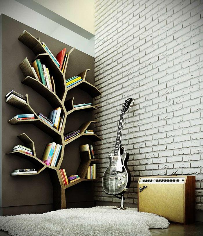 Bücherregale schnecke baum
