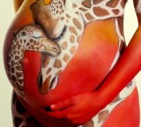 Babybauch bemalen- ein beliebter  Trend in den letzten Schwangerschaftswochen