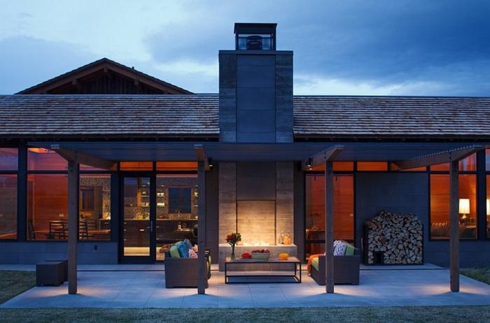 Brennholz lagern intern terrasse