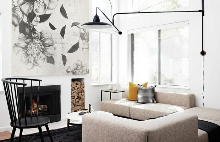 Brennholz lagern intern wohnzimmer