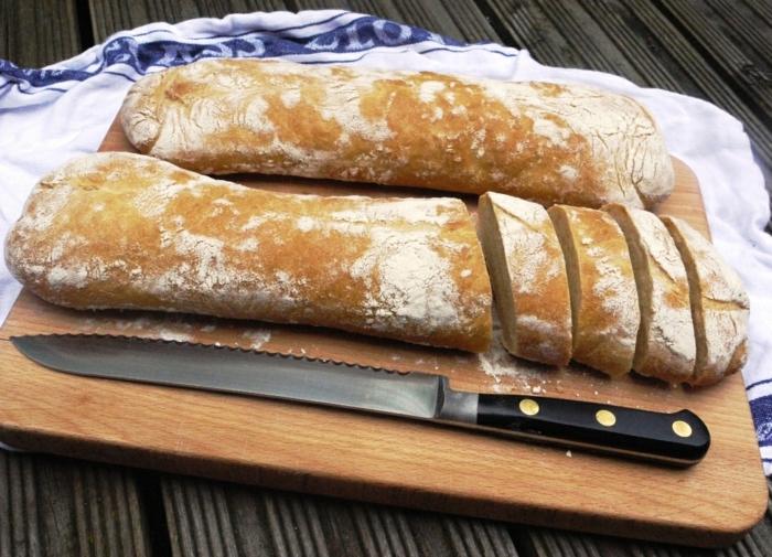 Ciabatta Brot von oben ciabttas tuch