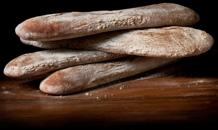 Ciabatta Brot von oben ciabttas