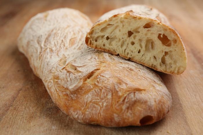 Ciabatta Brot ein und halb