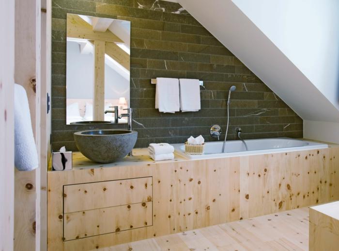 Badgestaltung in der dachgeschosswohnung und wie das am for Badgestaltung holz