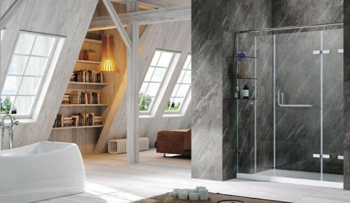 wie man das dachgeschoss einrichten kann um ein tolles bad zu haben. Black Bedroom Furniture Sets. Home Design Ideas