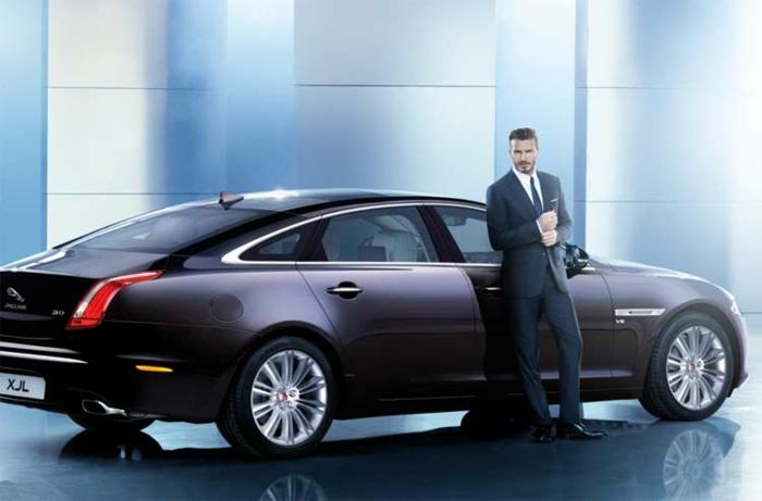 David beckham werbung jaguar neues auto in china präsentieren