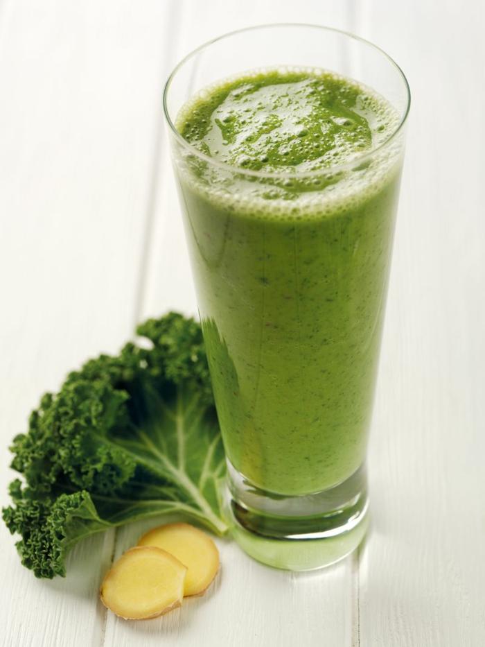 Grün kohl smoothy