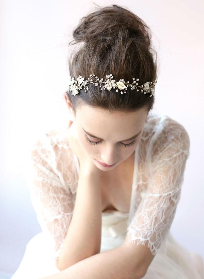 Hochzeitfrisuren blume von haarreifen
