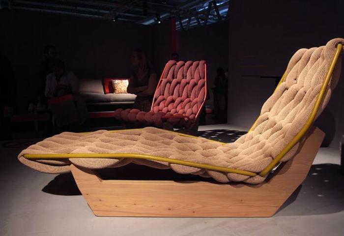 Liegestuhl komisch kitsch