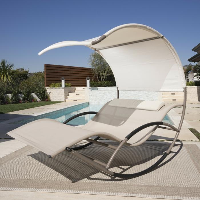 Liegestuhl luxus pur und vollkommene entspannung - Schaukel liegestuhl ...