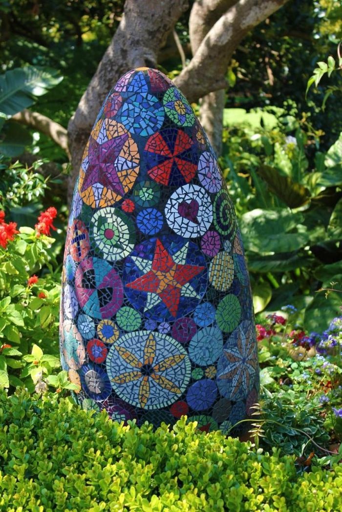 Mosaik selber machen gartenwege stein mosaiksteine