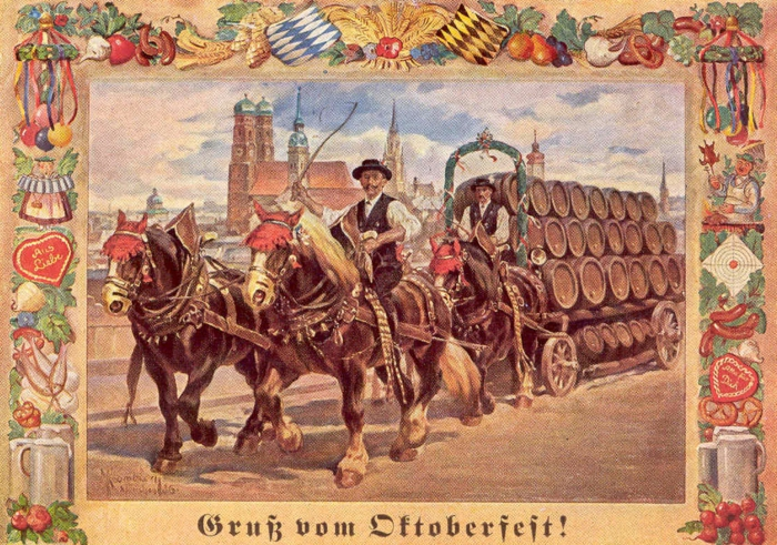 Oktoberfest München bürgermeister alte karte