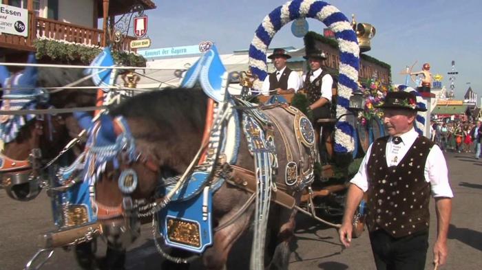 Oktoberfest München pferdespanne