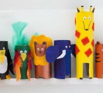 Basteln mit Klopapierrollen und Party Dekoration als DIY Projekt
