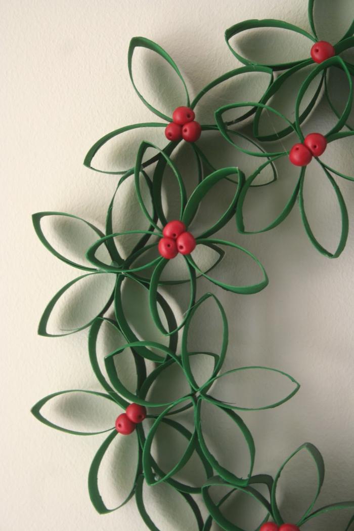 Party Dekoration klorollen weihnachten Basteln mit Klopapierrollen