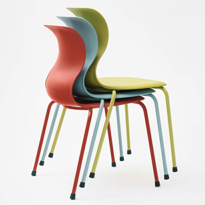 Schul möbel Stühle Konstantin Grcic Designer Stühle stapelbar
