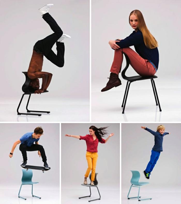 Schulmöbel Stühle Konstantin Grcic moderne Stühle stapelbar