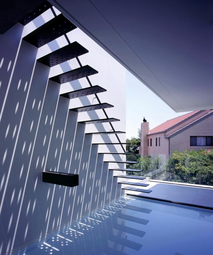 schwebende treppe eine entscheidung f r mutige stheten. Black Bedroom Furniture Sets. Home Design Ideas