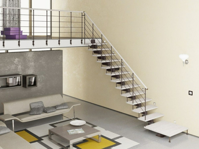 Schwebende Treppe stahlstreäger