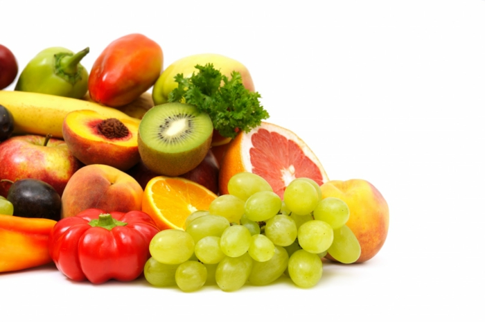 Vitamintabletten vitaminen gesundes essen frisches obst und gemüse