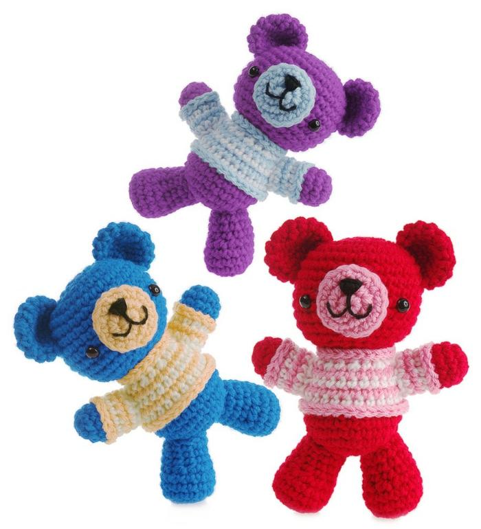 amigurumi häkeln schöne dekoideen teddys