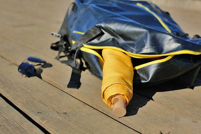 ausgefallene ideen klappliege leano rucksackt tragbar