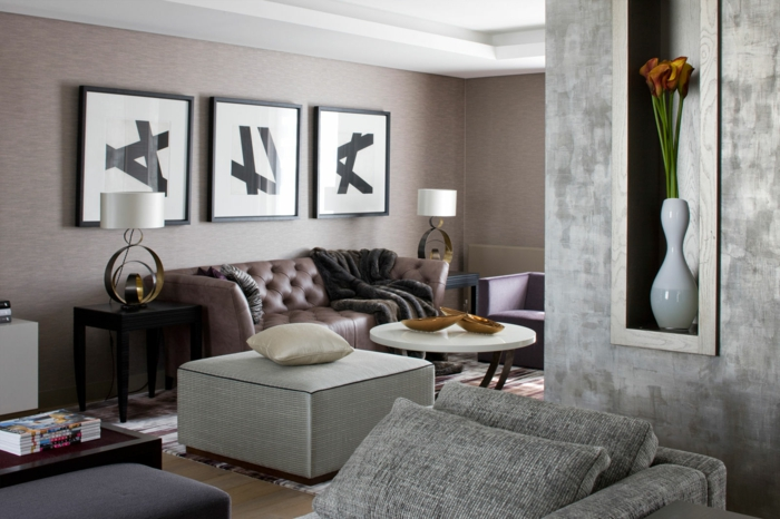 Ausgefallene Sofas verleihen dem Wohnzimmer eine ...