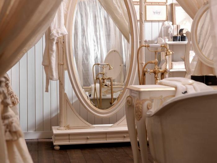 badezimmer gestalten spiegel antique badezimmermöbel