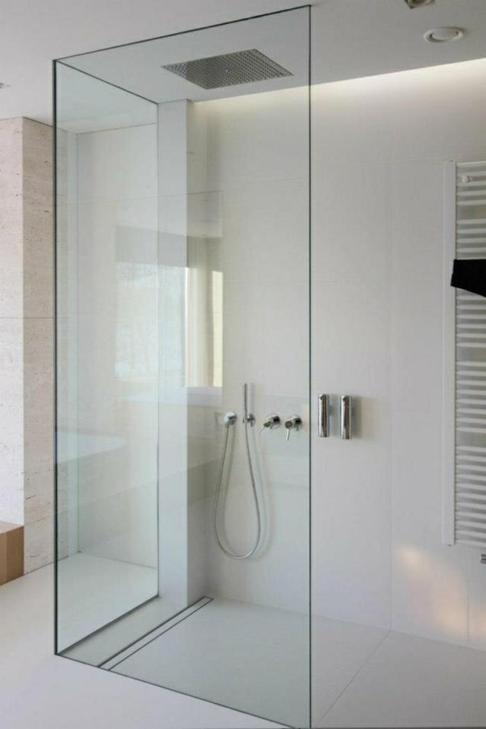 badezimmergestaltung ideen walk in dusche duschwände glas