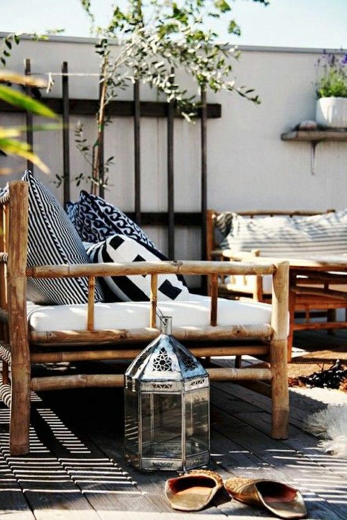 Balkongestaltung Ideen Holzboden Holzmöbel Balkon Dekorieren