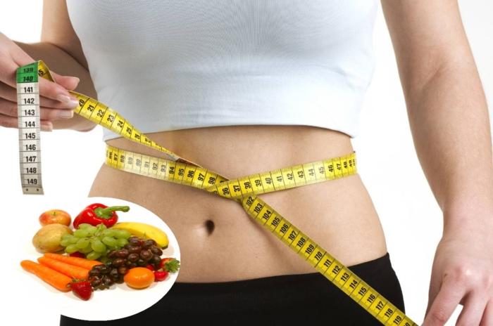 bauchfett weg früchte gemüse fitness taille