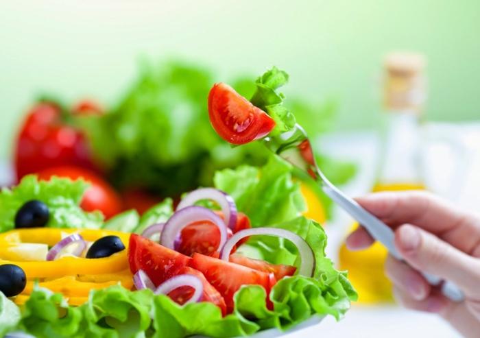 bauchfett weg frische salate