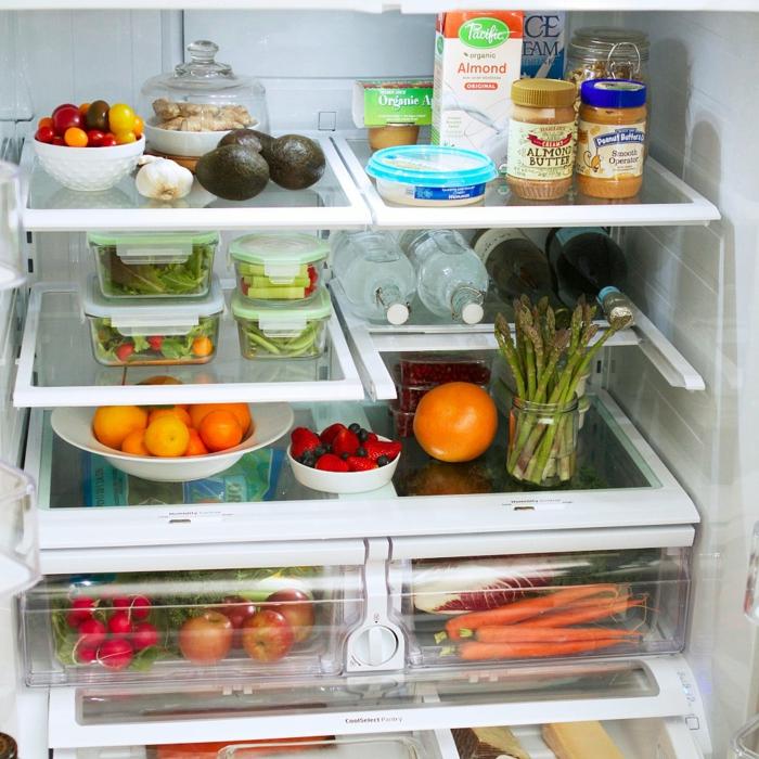 bauchfett weg gesundes essen kühlschrank
