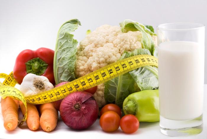 bauchfett weg kriegen gemüse milchprodukte