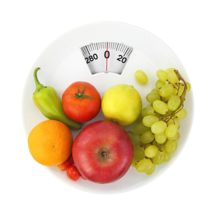 bauchfett weg obst gemüse kalorienarme nahrung